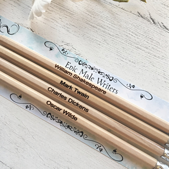 Epic Male Writers - Author Pencils - Nabu - Literary Gifts For Book Lovers