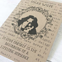 Oscar Wilde A5 Notebook - 'Love Oneself' - Nabu Bookish Gifts