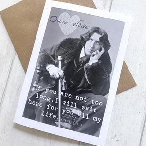 Greeting Card - Oscar Wilde Portrait