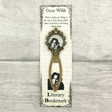 Oscar Wilde Bookmark - Vintage Bronze & Glass - Nabu - Literary Gifts For Book Lovers