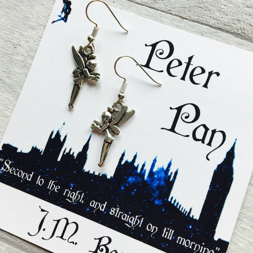 Peter Pan Fairy Earrings - Nabu Bookish Gifts | Literary Gifts For Book Lovers