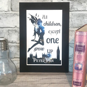 Peter Pan Colour Print - Nabu Bookish Gifts | Literary Gifts For Book Lovers