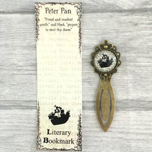 Peter Pan Pirate Bookmark - Vintage Bronze & Glass - Nabu - Literary Gifts For Book Lovers