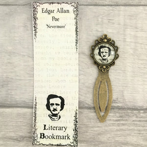 Edgar Allan Poe Bookmark - Portrait - Nabu Bookish Gifts | Literary Gifts For Book Lovers