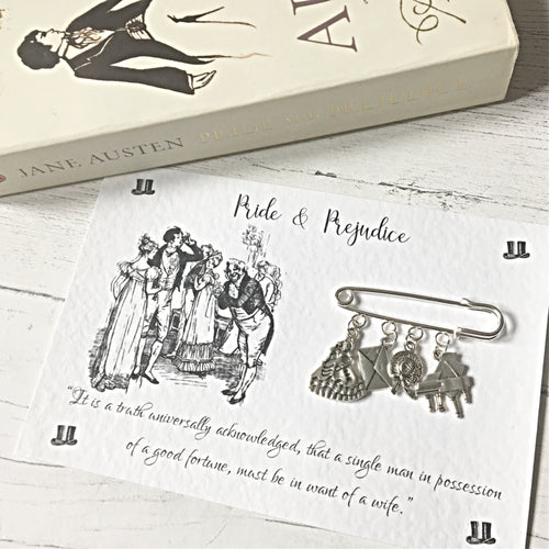 Pride And Prejudice Brooch - Nabu - Literary Gifts For Book Lovers