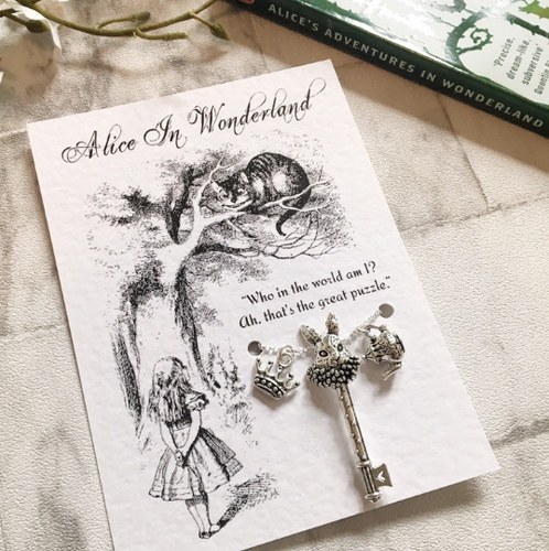 Alice In Wonderland Charm Necklace - Nabu Bookish Gifts | Literary Gifts For Book Lovers