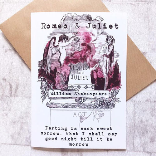 Shakespeare Greeting Card - Romeo And Juliet - Nabu Bookish Gifts | Literary Gifts For Book Lovers