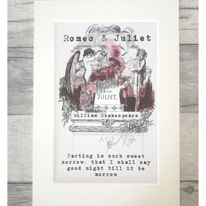 Romeo And Juliet Print - Nabu Bookish Gifts