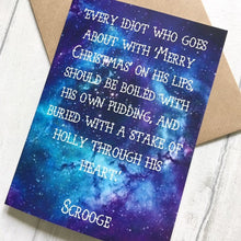 Christmas Carol Greeting Card - Scrooge Quote