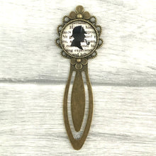 Sherlock Holmes Bookmark - Vintage Bronze & Glass - Literary Gift - Literary Quo - Nabu - Literary Gifts For Book Lovers