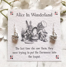 Alice In Wonderland Earrings - Mad Hatters Teapot - Nabu Bookish Gifts | Literary Gifts For Book Lovers