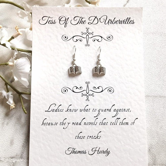 Tess Of The D'Urbervilles Book Earrings