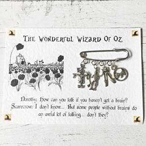 The Wizard Of Oz Brooch - Nabu - Literary Gifts For Book Lovers
