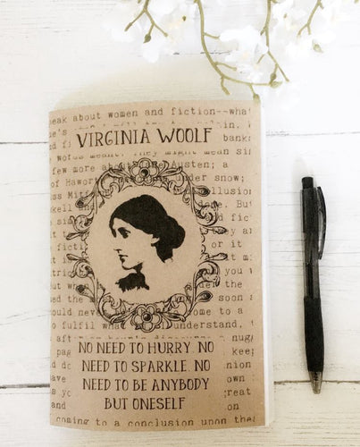 Virginia Woolf A5 Notebook - 'No Need To Be Anybody' - Nabu Bookish Gifts