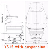 YS15 Seat WITH SUSPENSION 9000000132