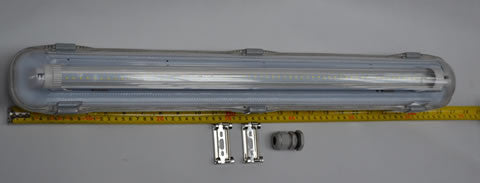 SINGLE LED DECK LIGHT AND IP65 HOUSING 12V DC  1x 9000000245 1x 9000000131 12V