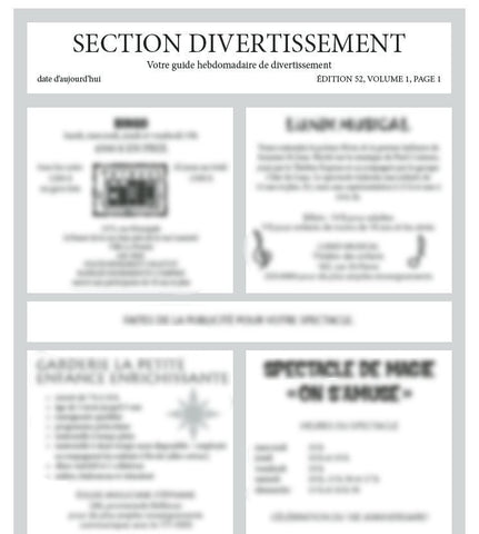 FAL103 - ADULT FAVRES - Laminate Replacements Task 1 Newspaper Pgs (2 pages) - French Version (Level B)
