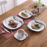 60-Piece Porcelain Ceramic Plate dinner Set with Dessert Plates/Soup Plates/Dinner Plates/Cups/Saucers - I want direct