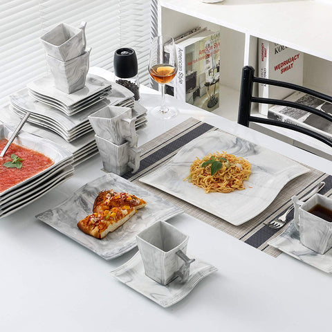 30-Piece Marble dinner service set - I want direct