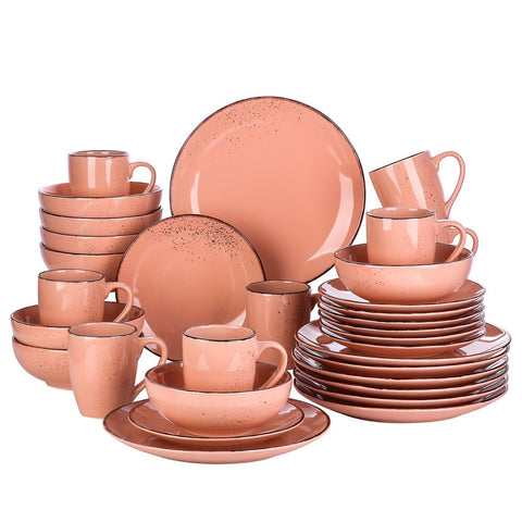 Stoneware Vintage Dinner Set with 8*Dinner Plate,Dessert Plate,800ml Bowl,380ml Mug Set - I want direct