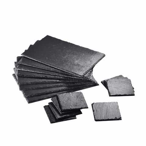 Natural Slate Placemat Set - 8 Coasters, 8 Placemats or food grade plates - I want direct