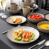 Stoneware Dinner service Set grey - I want direct