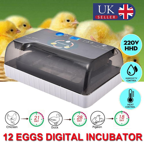 Fully Automatic egg Incubator Temperature Display Farm Egg Incubator Hatcher Chicken Duck Bird Pigeon Quail Brooder - I want direct