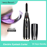 Mini Electric Heated Eyelash Curler Makeup Eye Lashes  Long Lasting Beauty Tool
