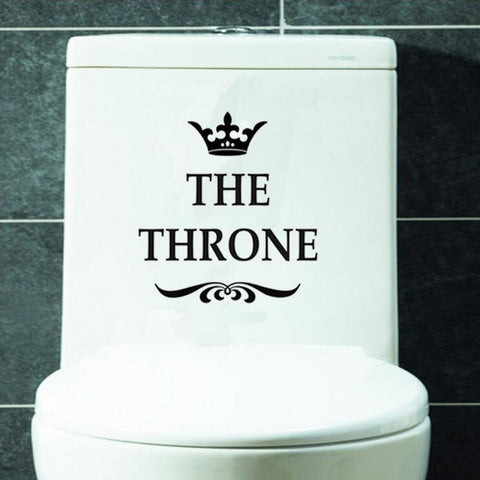 The Throne Crown Toilet Stickers Funny Toilet Seat stickers Removable Toilet Home Decor