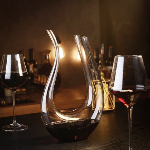 Hand Blown Crystal Glass, Red Wine Carafe, Decanter Wine gift - I want direct