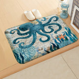 40X60CM Marine Style bath or door Mat Sea Turtle Pattern Coral  Anti-Slip bath mats Home Decor