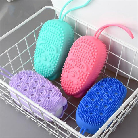 Silicone Body exfoliator Soft  Exfoliating Massager Skin Cleaner Cleaning Pad Bathroom Accessories.