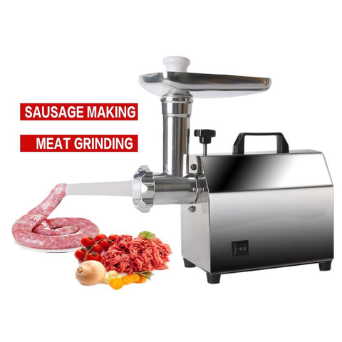 Electric Meat Grinder Sausage Stuffer Mincer Heavy Duty Household Mincer Stainless Steel Home Meat Grinder.