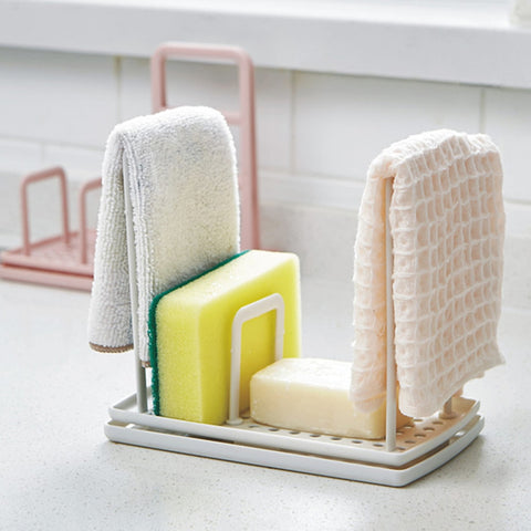 Cleaning Cloth Shelf Plate Sponge Holder Towel Shelf Standing Type Storage Rack Kitchen Accessories - I want direct