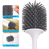 Silicone Toilet Brush Floor-Standing holds shape easy clean wc toilet brush - I want direct