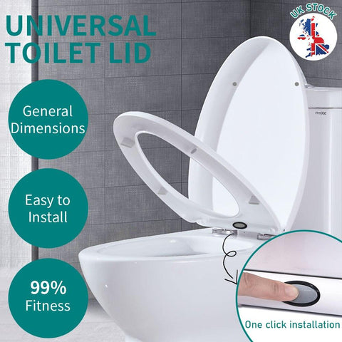 Toilet seat seat with soft close easy fit and quick release for easy cleaning - I want direct