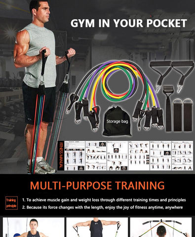 Resistance band set for workouts full workout - I want direct