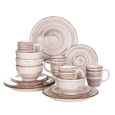 Dinner Set Vintage Look Ceramic Plate Set - I want direct