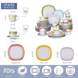 Dinner service Set with multi colour design handmade - I want direct