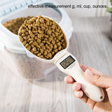 Digital Pet food scale led screen for dog and cat food in grams, ml, ounces and cup - I want direct