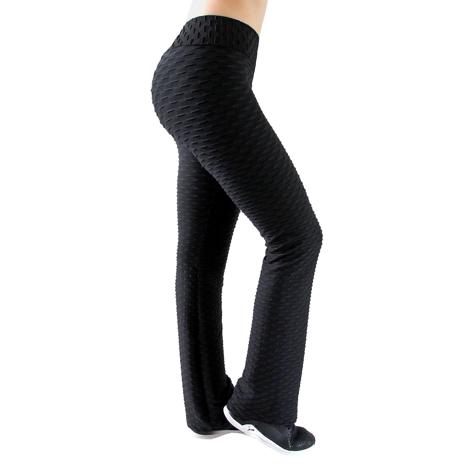 Flared Honeycomb Pants