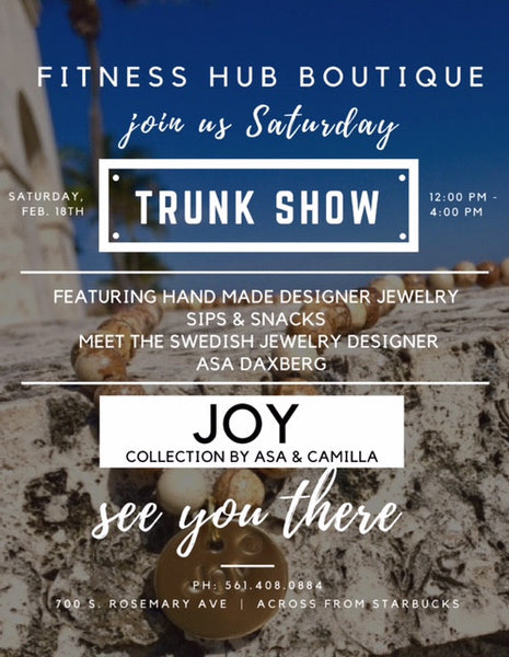 Trunk Show JOY collection by Asa and Camilla