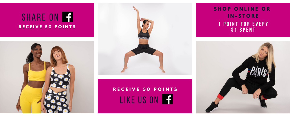 Like us and share us on Facebook for rewards points