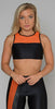 Koral Rotation Versatility Bra Black Jasper Orange