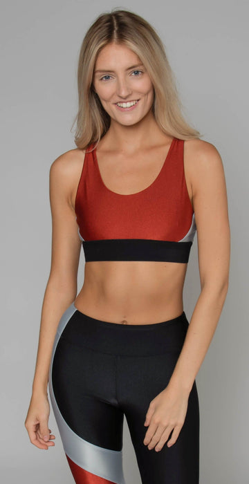 Koral End Point Sprint Sports Bra Rouge Silver