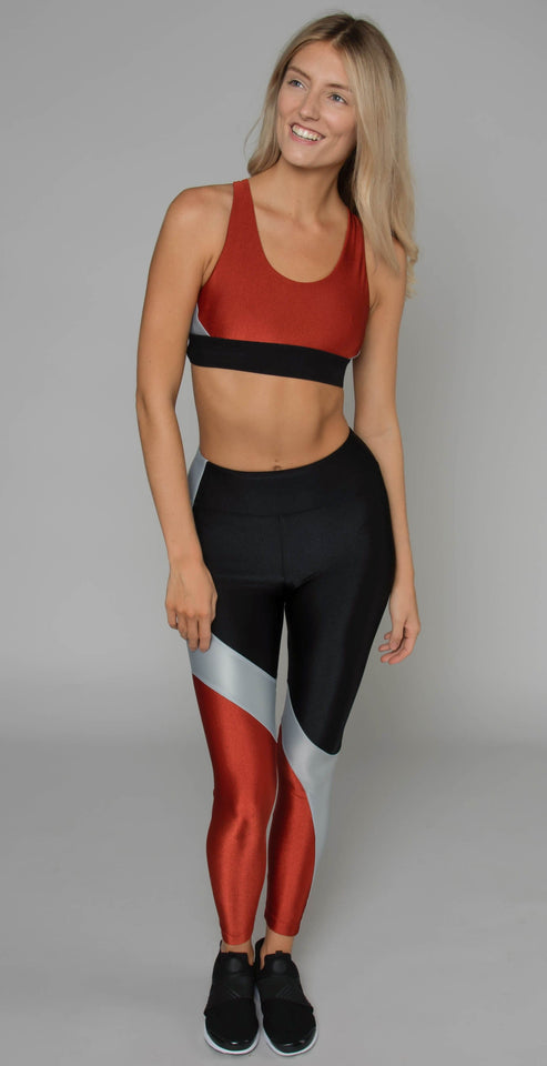 Koral Charisma High Rise Sprint Legging Black Rouge Silver