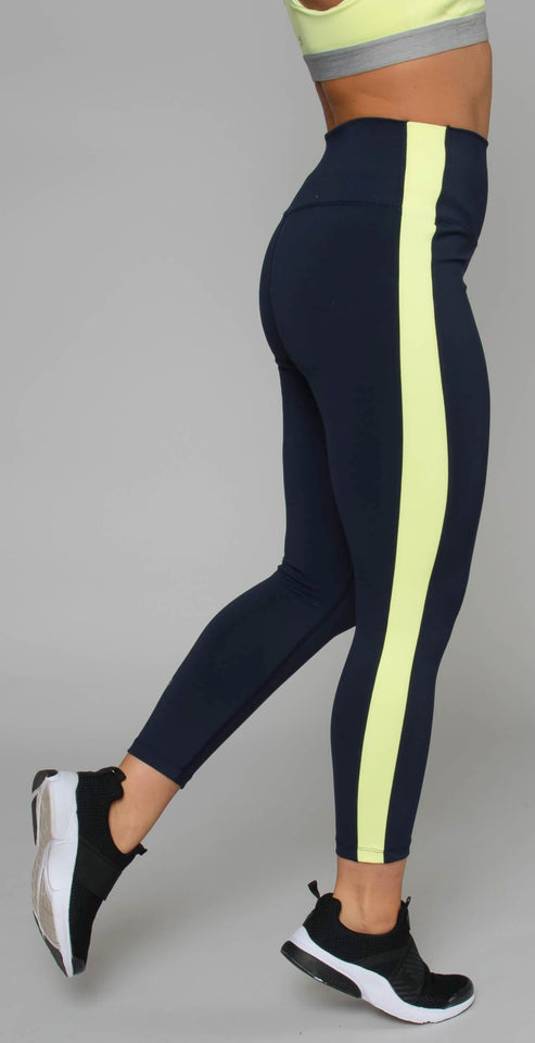 Splits59 Rose High Waist Capri Midnight/Neon Citrus