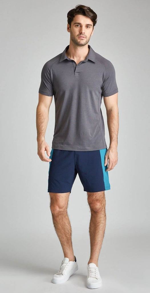 "Fourlaps Bolt Short 7"" Navy-Teal"
