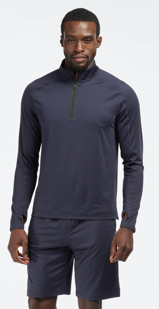 Rhone Courtside Performance 1/4 Zip Navy