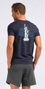 Rhone Fourth of July Element Tee Navy